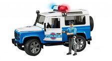 BRUDER 02595 Land Rover POLICE con poliziotto - Scala 1:16