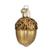 """Acorn"" (28075)X Old World Christmas Glass Ornament w/ OWC Box"