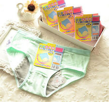 4 pcs Green Girl Women menstrual period Briefs Panties Underpants Underwear