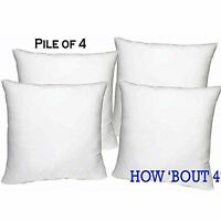 "Set of 4 - 18"" X 18"" Sham Stuffer Square Pillow Form Insert Polyester,Standard"