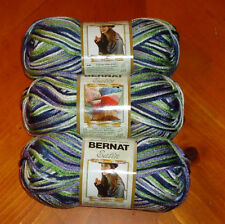 Bernat Satin Yarn Lot Of 3 Skeins (Peacock #05242)