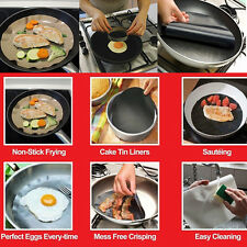 2PCS Non-stick Frying Pan Liner The Best Product Black Cooking Mat Tools Sheet*