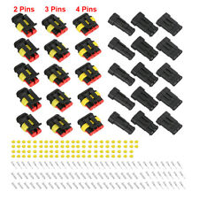 15Kits 12A IP68 2+3+4 Pins Way Sealed Waterproof Electrical Wire Connector Plug