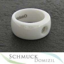 Melano-magnetic cerámica ring - 10 mm-Weiss-talla 50-nuevo