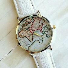 Fashion World Map belt fashion quartz watch Wristwatch