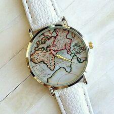 Mundo De La Moda Mapa Cinturón Fashion Cuarzo Reloj Pulsera