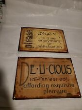 Lot Of 2 Tin Signs Kitchen Decor