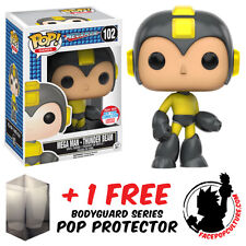 FUNKO POP MEGA MAN THUNDER BEAM NYCC 2016 EXCLUSIVE + FREE POP PROTECTOR