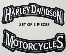 "Harley Davidson Set of 2 - 12"" Back Rockers (2XL) SILVER"