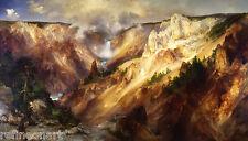 Thomas Moran Grand Canyon of Yellowstone Giclee Canvas Print