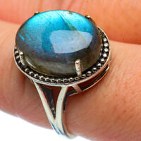 Labradorite 925 Sterling Silver Ring Size 8.25 Ana Co Jewelry R37436F