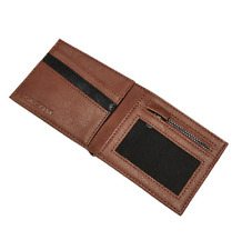 Volcom Wallet With CC, Note and Zipped Coin Section ~ Slimstone MOCHA  mens new