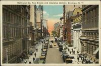 Brooklyn NY Montague St. c1920 Postcard