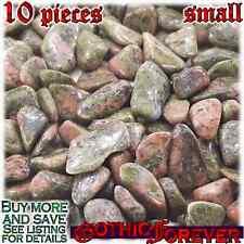 10 Small 10mm Combo Ship Tumbled Gem Stone Crystal Natural - Jasper Unakite