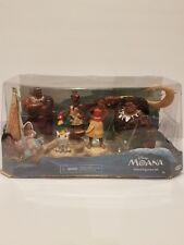 Disney Moana Island Figurine Set- Moana, Maui,Tui,Sina, Pua&HEYHEY 5 Figure Set