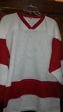Ice Hockey Roller Hockey Mesh Training Shirt Jersey WHITE/red XS