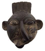 Maschera Diminutivo Africano Passaporto IN Miniatura Copia Divinatorio 6471 Q1