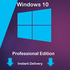 MS Win 10 Pro Full Version 32/64 Bit Product Windows Professional INT Key