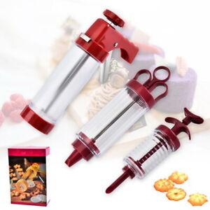 UK Icing Piping Gun Cake Decorating Syringe Piping Syringe Pastry Nozzle Kit Set