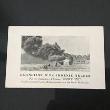 Carte Pub Extincteur KNOCK OUT Pompier Incendie Fireman Advertising Postcard