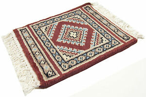 30x30 CM Small Rug Authentic Original Square Hand knotted Wool chascmere