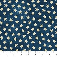 Stars & Stripes Stonehenge Quilt Fabric 1/2 yard Ivory Stars on Navy 39101-49