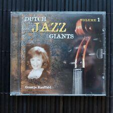GREETJE KAUFFELD - DUTCH JAZZ GIANTS - VOLUME 1  - CD