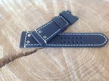 Luminox Watch Strap 26mm Genuine Leather HANDMADE Black