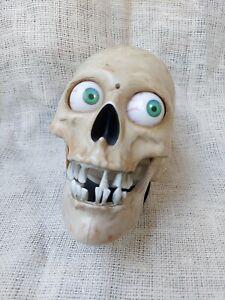 Gemmy Skull Halloween Light Up Talking Animated Head, Eyes Light Up, Sensor