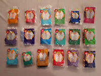2000 McDonald's Happy Meal Toys - Ty Teenie Beanie Babies FULL SET OF 18 TOYS