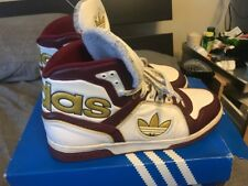 Pre-owned Size 10.5 Adidas Ecstasy Mid Shoes White Burgundy Gold Missy Elliot