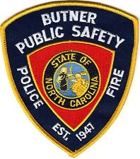 Butner Public Safety Police Fire Police North Carolina patch NEW