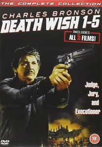 """DEATH WISH 1-5  MOVIE COLLECTION CHARLES BRONSON 5 DISC DVD BOX SET """"NEW&SEALED"""""""