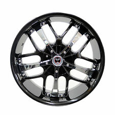 Set of 4 GWG Wheels 18 inch Black Chrome SAVANTI Rims 5x110 ET40 CB74.1