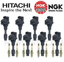 8 Hitachi Ignition Coils and 8 NGK Spark Plugs KIT for Infiniti Q45 97-01 VH41DE