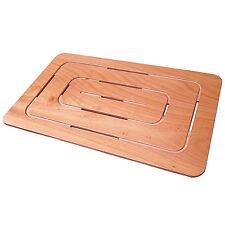 Pedana doccia 96 x 57 cm okumè multistrato marino ultraslim per piatti doccia