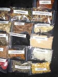 Land Hermit  crab food 2x3  16 bags homemade organics