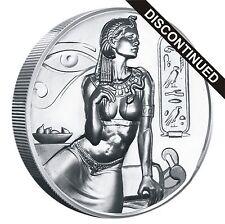 2 oz Cleopatra Ultra Hi Relief Silver Round .999 Egyptian Gods Heidi Wastweet