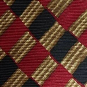 Red Black Brown Striped CERRUTI Silk Tie
