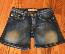 BIG STAR Sweet Ultra Low Rise Blue Denim Jean Shorts Women's Size 26~ Excellent!