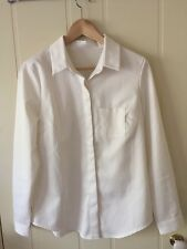 Crisp White Button Down Collared Shirt Size 10 Fantastic Condition