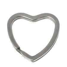 10 Anneaux de Porte-clés Coeur 31x31mm