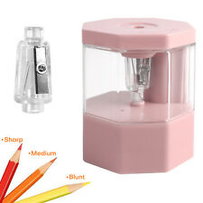 Electric Pencil Sharpener Battery Operated School Office Fast Sharpen Fit 6 8 Mm