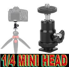 MINI TESTA SFERA 1/4 SLITTA FLASH BALL HEAD HOT SHOE ADATTO A PENTAX SAMSUNG NX