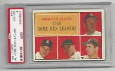 ALHome Run Leaders Mantle,Maris,Lemon,Calavito 1961 Topps Cd, PSA VG/ EX 4,# 44