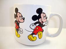 Mickey Mouse Coffee Tea Cup Mug Running Dancing C Handle 10 Oz