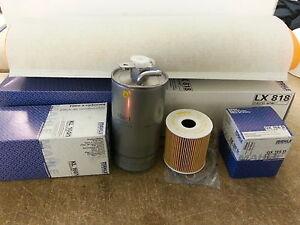 BMW X5 E53 3.0D 2926CC  Oil Air Fuel Filter Service Kit Genuine Mahle 2001-04