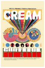 Rock: Eric Clapton & Cream & Grateful Dead at Santa Barbara Concert Poster 1968