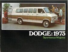 1973 Dodge Sportsman Wagons Sales Brochure WB Model/WB Maxiwagon/Camper
