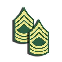 """ARMY Rank Master Sergeant Sticker Military Dye Cut Decal 2 Pack 3"""" tall"""